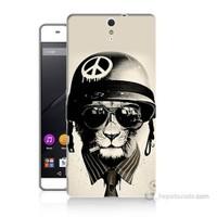 Teknomeg Sony Xperia C5 Barışçı Aslan Baskılı Silikon Kılıf