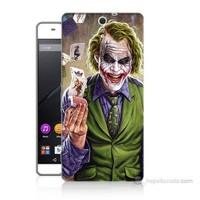 Teknomeg Sony Xperia C5 Kartlı Joker Baskılı Silikon Kılıf