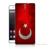 Teknomeg Sony Xperia C5 Türkiye Bayrağı Baskılı Silikon Kılıf