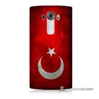Teknomeg Lg G4 Türkiye Bayrağı Baskılı Silikon Kılıf