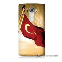 Teknomeg Lg G4 Türk Bayrağı Baskılı Silikon Kılıf