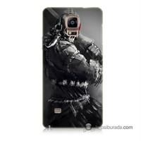 Teknomeg Samsung Galaxy Note 4 Kılıf Kapak Tribal Warrior Baskılı Silikon