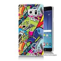 Teknomeg Samsung Galaxy Note 5 Kapak Kılıf Gitar Baskılı Silikon