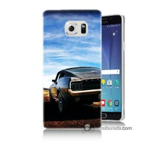Teknomeg Samsung Galaxy Note 5 Kılıf Kapak Mustang Baskılı Silikon