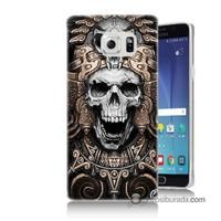 Teknomeg Samsung Galaxy Note 5 Kılıf Kapak Kafatası Krallığı Baskılı Silikon