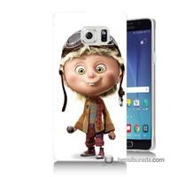 Teknomeg Samsung Galaxy Note 5 Kılıf Kapak Çizgi Karakter Baskılı Silikon