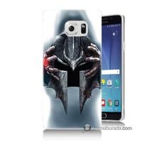 Teknomeg Samsung Galaxy Note 5 Kılıf Kapak Assassins Creed Baskılı Silikon