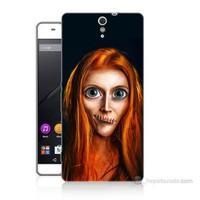 Teknomeg Sony Xperia C5 Zombie Kız Baskılı Silikon Kılıf
