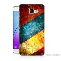 Teknomeg Samsung Galaxy A7 2016 Kapak Kılıf Renkli Metal Baskılı Silikon
