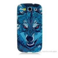 Teknomeg Samsung Galaxy S3 Mavi Kurt Baskılı Silikon Kılıf