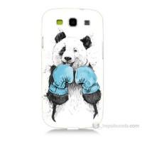 Teknomeg Samsung Galaxy S3 Boksör Panda Baskılı Silikon Kılıf