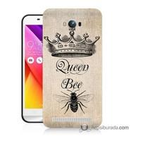 Teknomeg Asus Zenfone Max Kılıf Kapak Queen Bee Baskılı Silikon