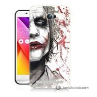 Teknomeg Asus Zenfone Max Kapak Kılıf Kanlı Joker Baskılı Silikon