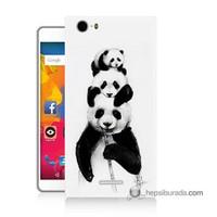 Teknomeg Casper Via M1 Kapak Kılıf Panda Ailesi Baskılı Silikon