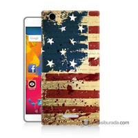 Teknomeg Casper Via M1 Kılıf Kapak Amerika Bayrağı Baskılı Silikon