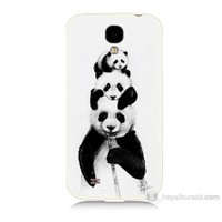 Teknomeg Samsung Galaxy S4 Panda Ailesi Baskılı Silikon Kılıf