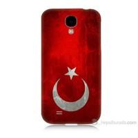 Teknomeg Samsung Galaxy S4 Türkiye Bayrağı Baskılı Silikon Kılıf