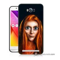Teknomeg Asus Zenfone Max Kılıf Kapak Zombie Kız Baskılı Silikon