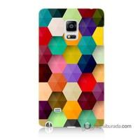 Teknomeg Samsung Galaxy Note Edge Kapak Kılıf Renkli Petek Baskılı Silikon