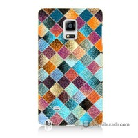 Teknomeg Samsung Galaxy Note Edge Kılıf Kapak Kırkyama Baskılı Silikon