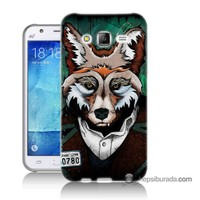 Teknomeg Samsung Galaxy J5 Kılıf Kapak Bad Wolf Baskılı Silikon