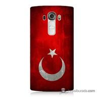 Teknomeg Lg G4 Beat Kılıf Kapak Türkiye Bayrağı Baskılı Silikon