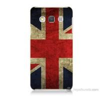 Teknomeg Samsung Galaxy A7 Kapak Kılıf İngiltere Bayrağı Baskılı Silikon