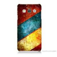 Teknomeg Samsung Galaxy A7 Kapak Kılıf Renkli Metal Baskılı Silikon