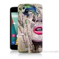 Teknomeg General Mobile Discovery 2 Mini Gazete Kadın Baskılı Silikon Kapak Kılıf