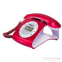 Multitek Retro Cid Masa Telefonu Rugby Kırmızı