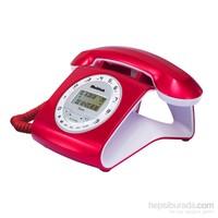 Multitek RETRO CID Masa Telefonu - Kırmızı