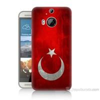 Teknomeg Htc One M9 Plus Türkiye Bayrağı Baskılı Silikon Kılıf