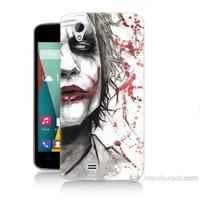 Teknomeg General Mobile Discovery 2 Mini Kanlı Joker Baskılı Silikon Kılıf
