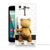 Teknomeg General Mobile Discovery 2 Mini Tedy Bear Baskılı Silikon Kılıf
