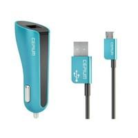 Cepium 2.1A Araç Şarjı ve Mikro USB Kablo-Turkuaz - CC-1453/2_T
