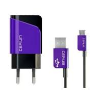 Cepium 2.1 Ev Şarj Cihazı ve Mikro USB Kablo-Mor - TR-1453/2_M