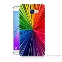 Teknomeg Samsung Galaxy A3 2016 Kapak Kılıf Renkler Baskılı Silikon