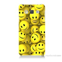 Teknomeg Samsung Galaxy A3 Kapak Kılıf Smile Baskılı Silikon