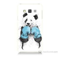 Teknomeg Samsung Galaxy A7 Boksör Panda Baskılı Silikon Kılıf