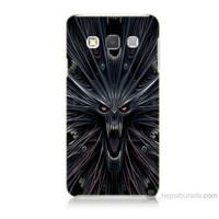 Teknomeg Samsung Galaxy A7 Korku Canavarı Baskılı Silikon Kılıf