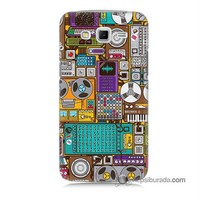 Teknomeg Samsung Galaxy Grand 2 Kılıf Kapak Teknoloji Baskılı Silikon