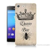 Teknomeg Sony Xperia M5 Queen Bee Baskılı Silikon Kılıf