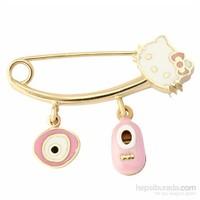 Atasay Altın Hello Kitty Bebek İğnesi
