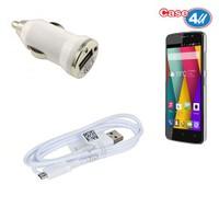 Case 4U General Mobile Discovery Mini 2 Araç Şarj Cihazı+Micro Usb Kablo