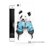 Teknomeg Huawei P8 Lite Kılıf Kapak Boksör Panda Baskılı Silikon