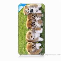 Teknomeg Samsung Galaxy E5 Kapak Kılıf Sevimli Köpek Baskılı Silikon