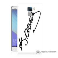 Teknomeg Huawei Honor 7 Kılıf Kapak Atatürk İmza Baskılı Silikon
