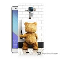 Teknomeg Huawei Honor 7 Kılıf Kapak Tedy Bear Baskılı Silikon