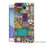 Teknomeg Huawei Honor 7 Kılıf Kapak Teknoloji Baskılı Silikon