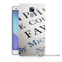 Teknomeg Huawei Honor 7 Kapak Kılıf Yazılar Baskılı Silikon